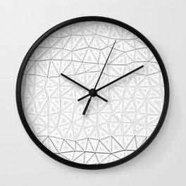 white polygon Wall Clock