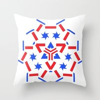 patriotic Throw Pillows featuring Patriotic by Robin Curtiss