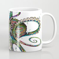 marine Mugs featuring Octopsychedelia by TAOJB