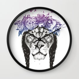 King of lions Wall Clock
