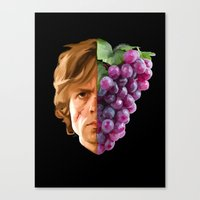 tyrion Canvas Prints featuring The God of Tits and Wine by Han Jihye