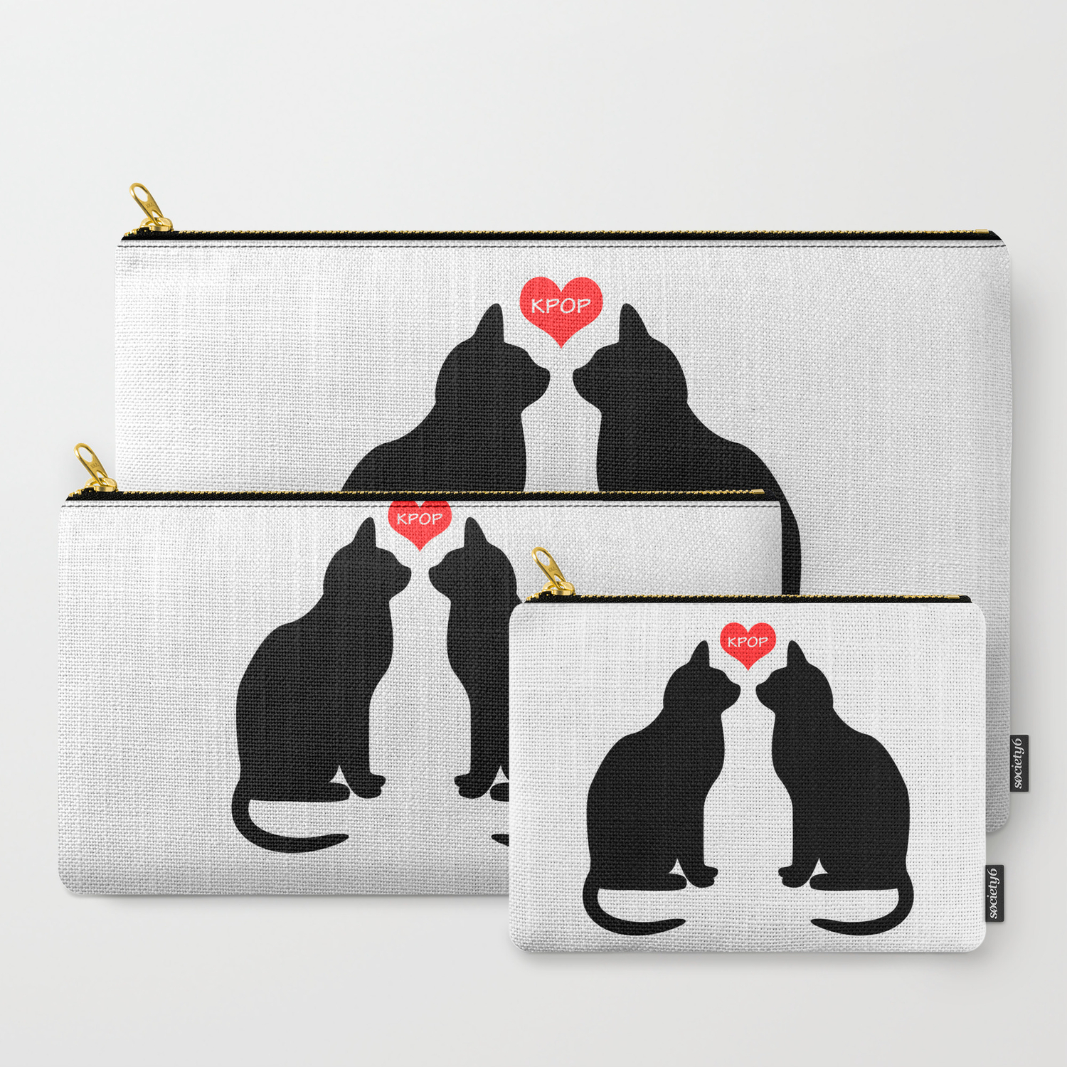 KPOP Cats Love Carry-All Pouch