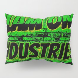 Slam 1 Industries Green Wall of Fire Pillow Sham