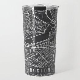 Boston Map, Massachusetts USA - Charcoal Portrait Travel Mug