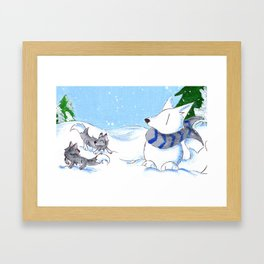 Snowpack Framed Art Print