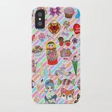 I Love Stickers iPhone X Slim Case