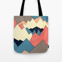 Tote Bags featuring Mountain Range  by  Steve Wade ( Swade)