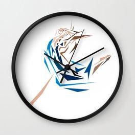 Blue Dancer Wall Clock