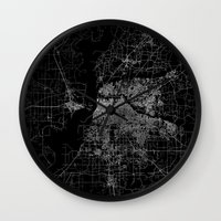 memphis Wall Clocks featuring Memphis map by Line Line Lines