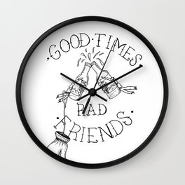 rad friends Wall Clock