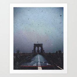Brooklyn Bridge in the Dark Art Print