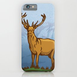 Highland stag 1 iPhone Case