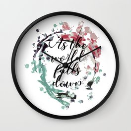 labyrinth movie jareth quotes As the world falls down Wall Clock