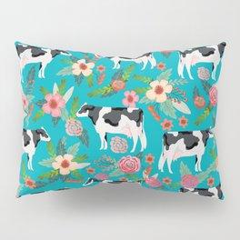 Holstein cattle farm animal cow floral Pillow Sham