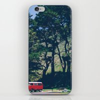 vw bus iPhone & iPod Skins featuring Cali VW Bus by Petrichor Photo
