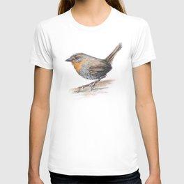 Chucao Bird Watercolor Animal Portrait T-shirt