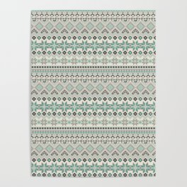 V40 Boho Vintage Anthropologie Pattern Poster