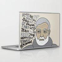 hemingway Laptop & iPad Skins featuring Sober by Natalia Ogneva