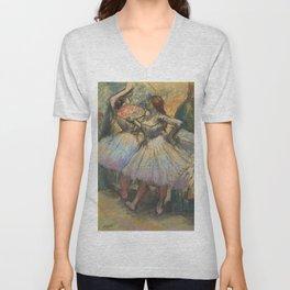 """Edgar Degas """"Dancers"""" Unisex V-Neck"""