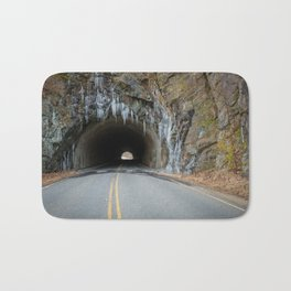 Icy Tunnel Pass If You Dare Bath Mat
