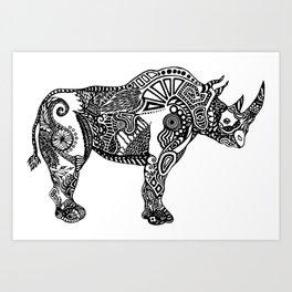 Rhino by Floris V Art Print