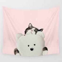 Cat Hug Me! Wall Tapestry