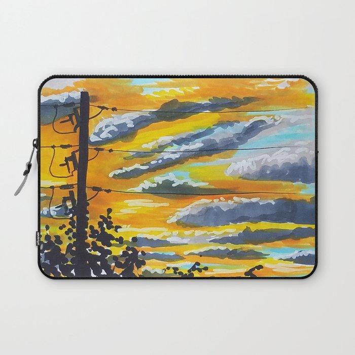 Suburban Sunset Laptop Sleeve