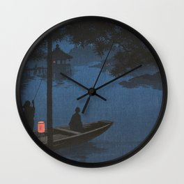 TIR-FA - Japan Print - Shubi pine at Night Wall Clock
