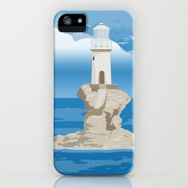 Andros, Toulitis Lighthouse (GR) iPhone Case