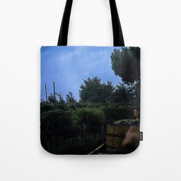 Vintage Color Photo * 1940's * Italy * Harvesting Grapes * Vinyard * Grape Cart Tote Bag