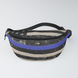Thin Blue Line Police Flag First Responder USA Hero Fanny Pack