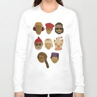 novelty Long Sleeve T-shirts featuring Wes Anderson Hats by godzillagirl