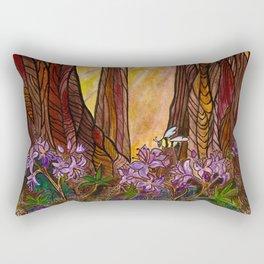 Rays in the Redwoods Rectangular Pillow