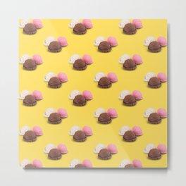 isolated ice cream on yellow Metal Print