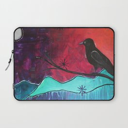 """""""Manifest"""" Original painting by Carly Mojica Laptop Sleeve"""
