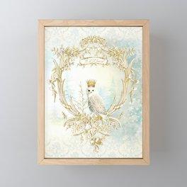 Owl Let it Snow Framed Mini Art Print