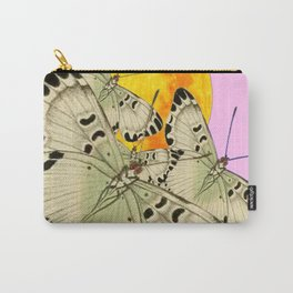GOLDEN MOON MOTHS ON PUCE & PINK Carry-All Pouch