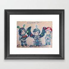 O Christmas Cas Framed Art Print