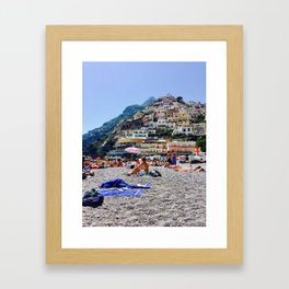 Positano in June Framed Art Print