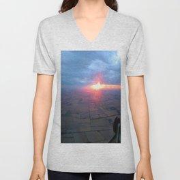Flying at Sunset (Full Sutton) Unisex V-Neck