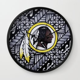 Redskins Poly Style Wall Clock