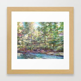 Watching the Summer Speed By Framed Art Print