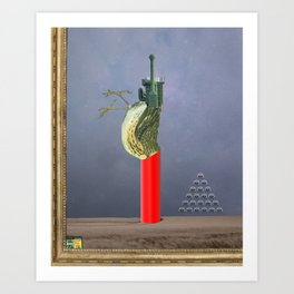 dead birds don´t sing Art Print