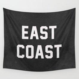 East Coast - black Wall Tapestry