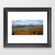 View of the lake Framed Art Print