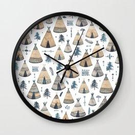 Tepees! Wall Clock