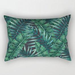 Palm and Banana Leaf Tropical Pattern Rectangular Pillow
