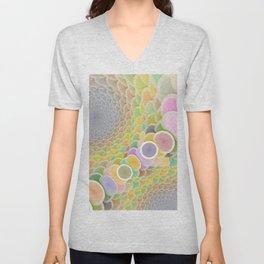 Colorful Wormhole Unisex V-Neck