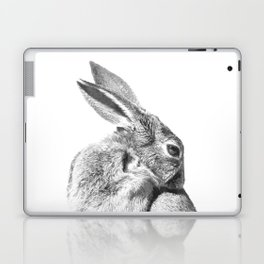 Black and white rabbit Laptop & iPad Skin