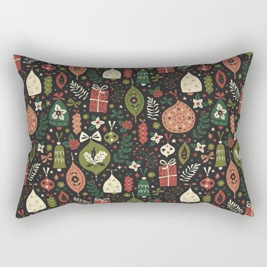 Holiday Ornaments Rectangular Pillow